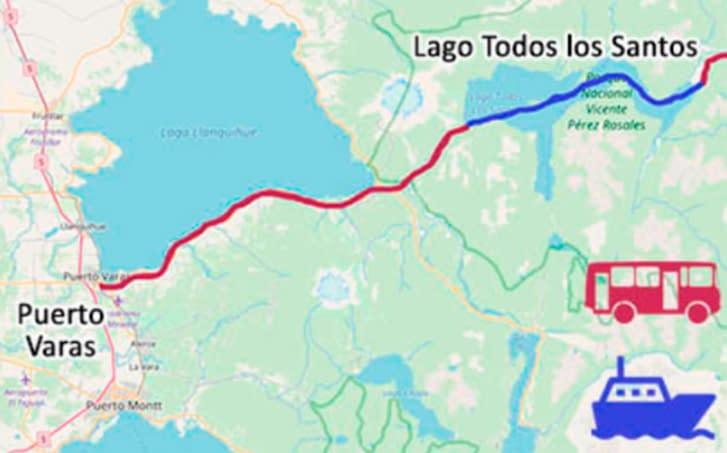 mapa katamaran peulla