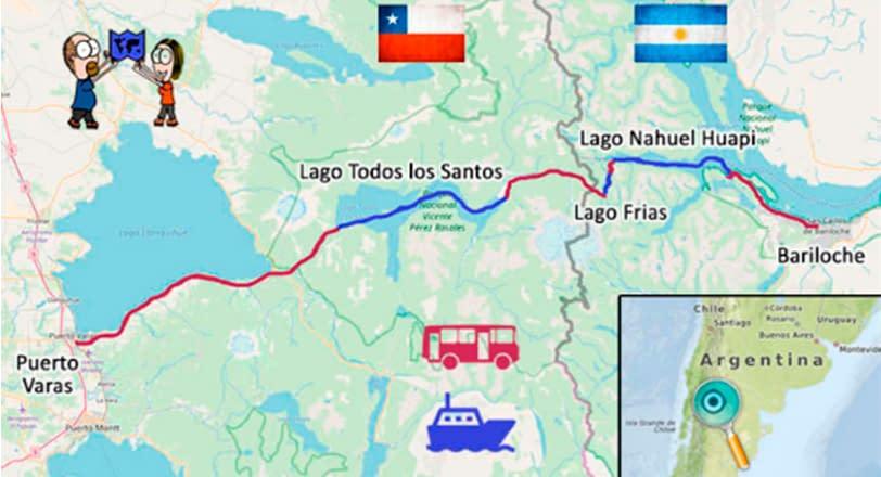 Mapa cruce andino