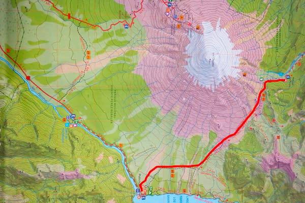 mapa TREKKING Paso Desolación